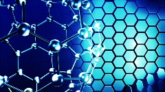 Molecules in motion. Science and life concepts Stock Footage