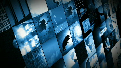 Animation of digital screens showing business and world Stock Footage