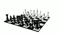 Animation of a chess set turning. Concept of rivalry and competition in business - stock footage