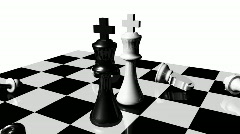Animation of chess set. Stand off. Concept of rivalry Stock Footage