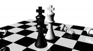 Stock Video Footage of Animation of chess set. Stand off. Concept of rivalry