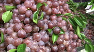 Fresh Grapes At The Market Stock Footage