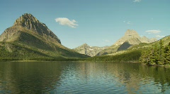 Stock Video Footage of Rugged mountains with lake