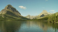 Rugged mountains with lake Stock Footage