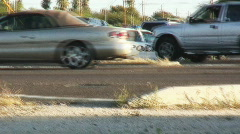 Vehicle collision commotion and cleanup - 5 Stock Footage