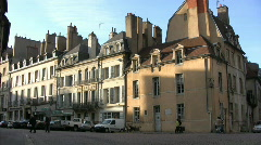Street in Dijon - France Stock Footage