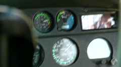 Aircraft, helicopter, gauges,  pan to fire, inflight Stock Footage