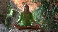 Yoga for Relaxation Stock Footage