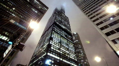 Stock Video Footage of Sears Tower in Fog 2