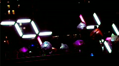 Abstract Light Installation Stock Footage