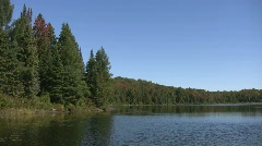 Calm lake. - stock footage