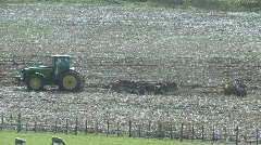 Tractor cultivating 1 Stock Footage