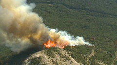 Forest fire, aerial. #8 Dramatic Stock Footage