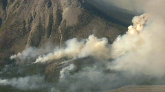 Forest fire, heavy smoke, aerial, #5 Stock Footage
