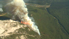 Forest fire, aerial. #9 Dramatic Stock Footage