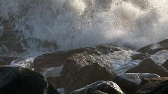 crashing waves and rocks - stock footage