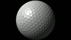 Golf Ball Loop-5 Sec Y Rotate-1080p Stock Footage