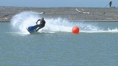 Jet ski race corner in slow motion - stock footage