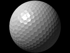 Golf Ball Loop-5 Sec Y Rotate-D1 Stock Footage