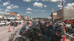 P00657 Motorcycles in Custer South Dakota Stock Footage