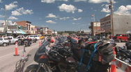 Stock Video Footage of P00657 Motorcycles in Custer South Dakota