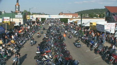 P00658 Sturgis Motorcycle Rally Main Street Stock Footage