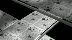 Newspaper printing Stock Footage