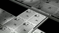 Stock Video Footage of Newspaper printing