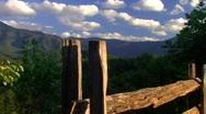 Mountain fence push 2 Stock Footage