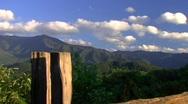 Mountain fence push 1 Stock Footage