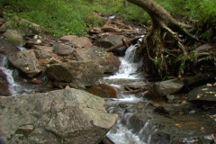 Waterfall wide push 1 Stock Footage