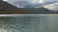 Highland autumn lake Stock Footage