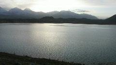 Karakul lake at sunrise2 Stock Footage