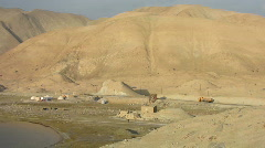 Karakoram highway, Karakul lake Stock Footage