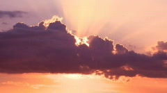 Clouds Time lapse sunset  - stock footage