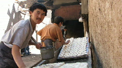 Bread making prep add water Stock Footage