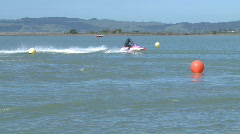 Jet Ski race corner  in slow motion Stock Footage