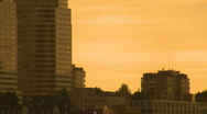 Panorama. Fragment of big city. Stock Footage