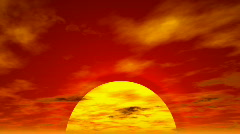 Sunset cloudscape (seamless loop) HD 1080p - stock footage