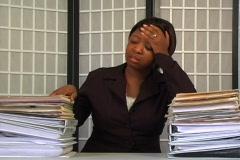 Overworked Businesswoman (3) Stock Footage