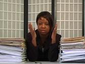 Overworked Businesswoman (4) Stock Footage