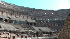 Inside the Colosseum, in Rome Stock Footage