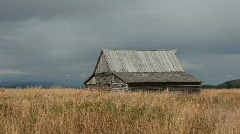 Old Barn in meadow P HD Stock Footage