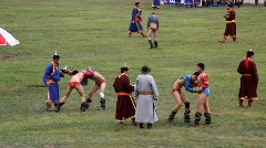 Openning ceremony of the 2009 Naadam Festival, Mongolia Stock Footage
