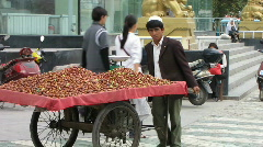 Nut cart Stock Footage