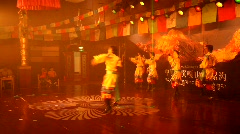 Tibetan-Chinese folk dancing in Moxi, China Stock Footage