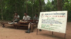 Band landmine victims Stock Footage