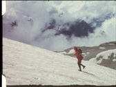 Stock Video Footage of Hiking on glacier (vintage 8 mm amateur film