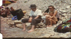 With grandpa at lake Gardasee (vintage 8 mm amateur film) Stock Footage