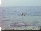 Grandpa swimming (vintage 8 mm amateur film) Stock Footage